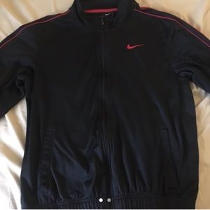 Black and Red Nike Track Jacket